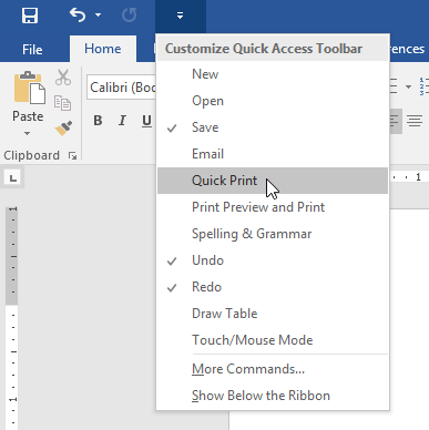 how to show margins toolbar in word
