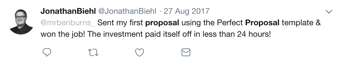 The Perfect Proposal Tweet