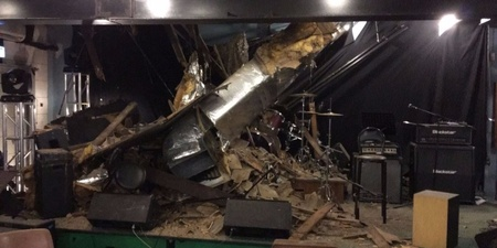 Ceiling collapses in Hong Kong music venue Warehouse, gear damaged