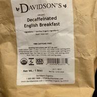 Organic Decaffeinated English Breakfast from Davidson's Organics