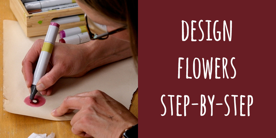 design flowers step-by-step
