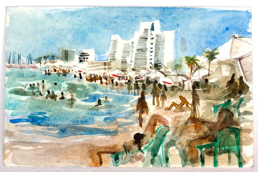 image: Frishman Beach, Tel Aviv