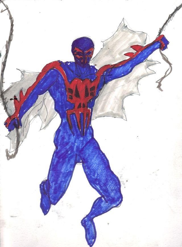 image: SPIDER-MAN 2099. ORIGINAL ART SOLD OUT. PRINTS AVAILABLE ONLY. $15.00 EACH