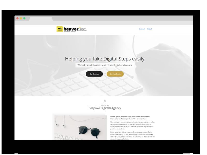 Digital8 Beaver Builder Template