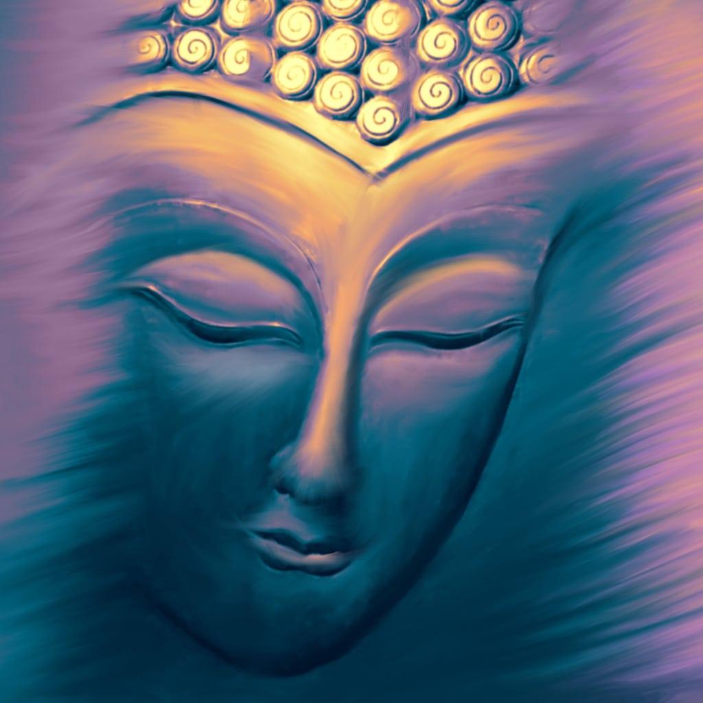 Blue Buddha by Hilary Oak