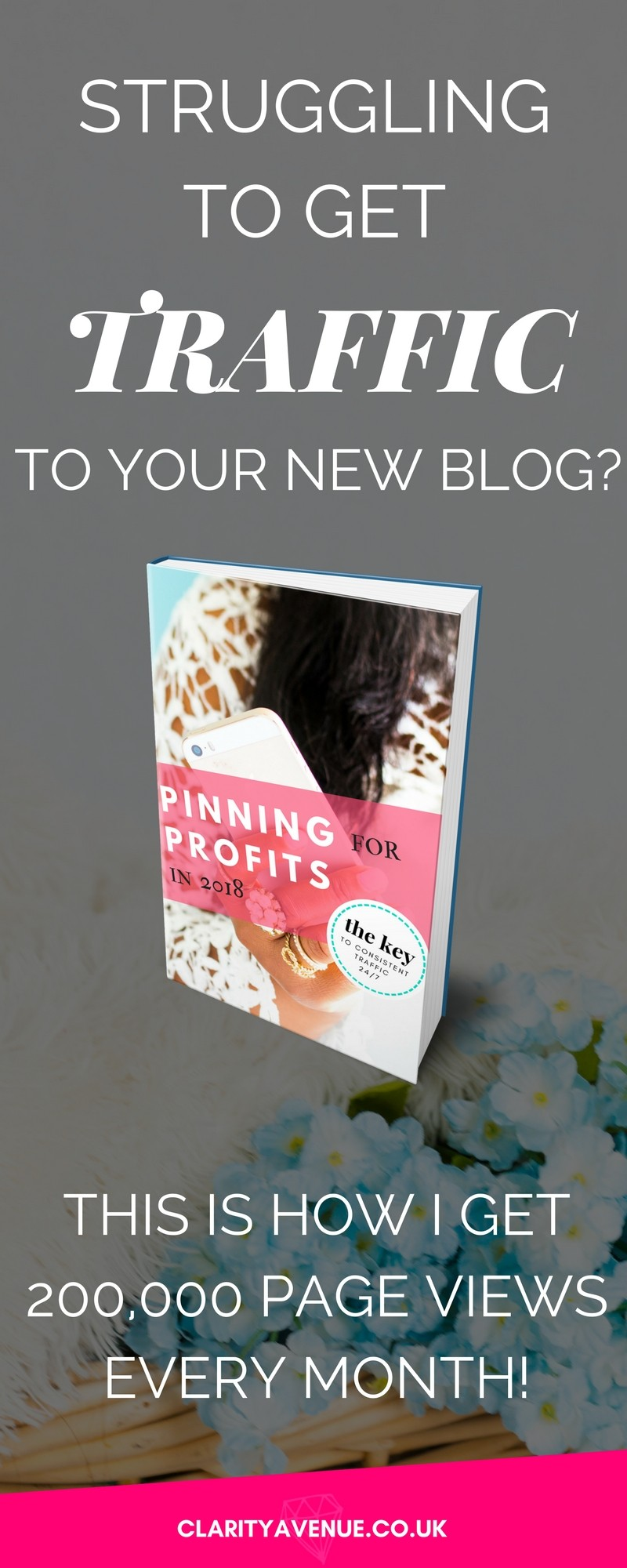 Are you struggling to get traffic to your new blog? Find out the exact strategy I use to get over 200,000 page views every month and it keeps growing. If you are a new blogger, getting traffic can be a real pain but you can find out exactly how to get endless traffic from Pinterest! With free lifetime updates. Become a Pinterest Ninja and kick but! #bloggingtips #traffic #blogging #makemoney #makemoneyonline #c-ave