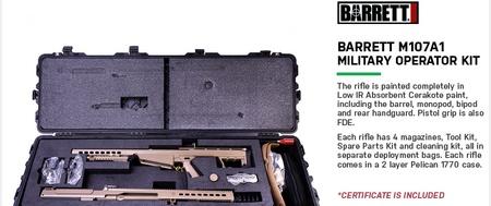 Barrett BARRETT M107A1 Military Deployment Kit 29