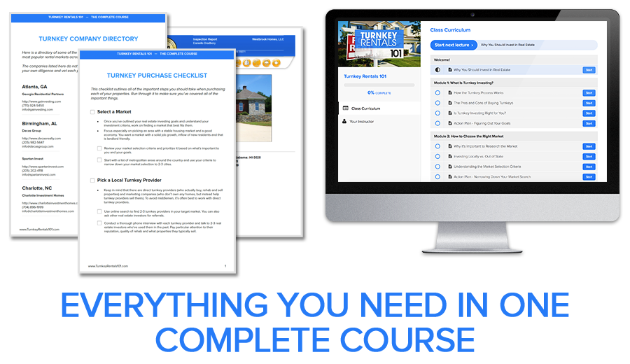 Turnkey Rentals 101 Complete Course Bundle