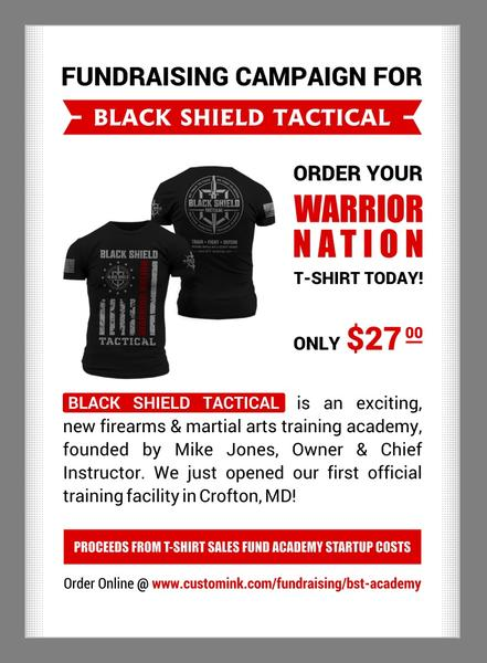 Fundraising Campaign for Black Shield Tactical Custom Ink