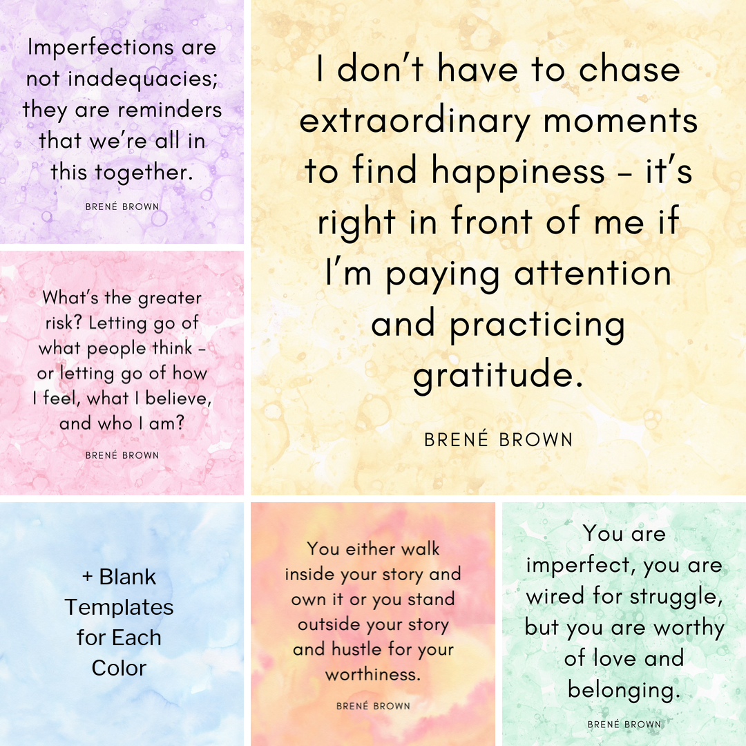 Instagram Quotes - Brene Brown - Collage
