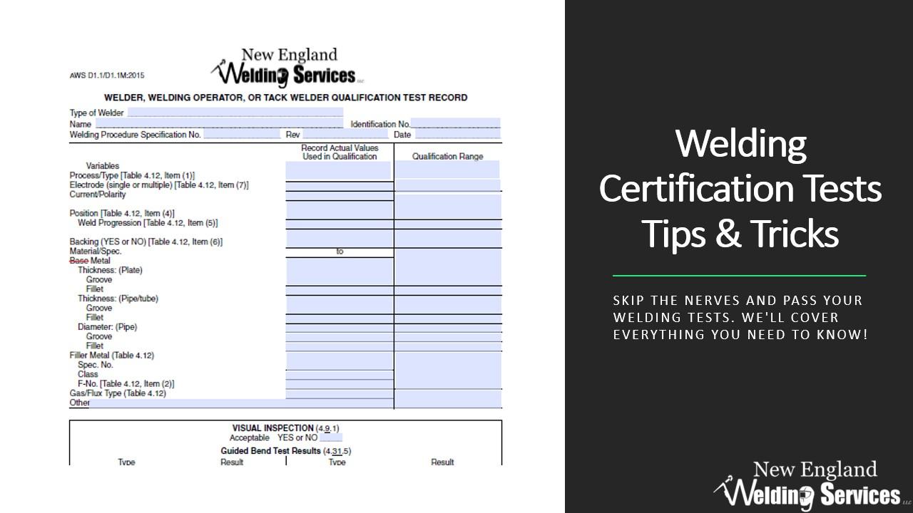 test certification pass tricks welding