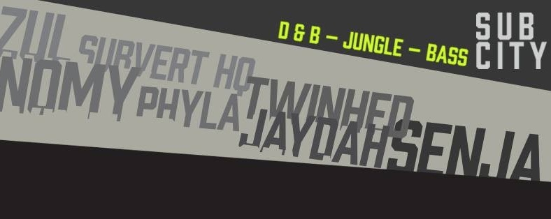 Sub City | Sat 26 Mar [d&b-Jungle-Bass]