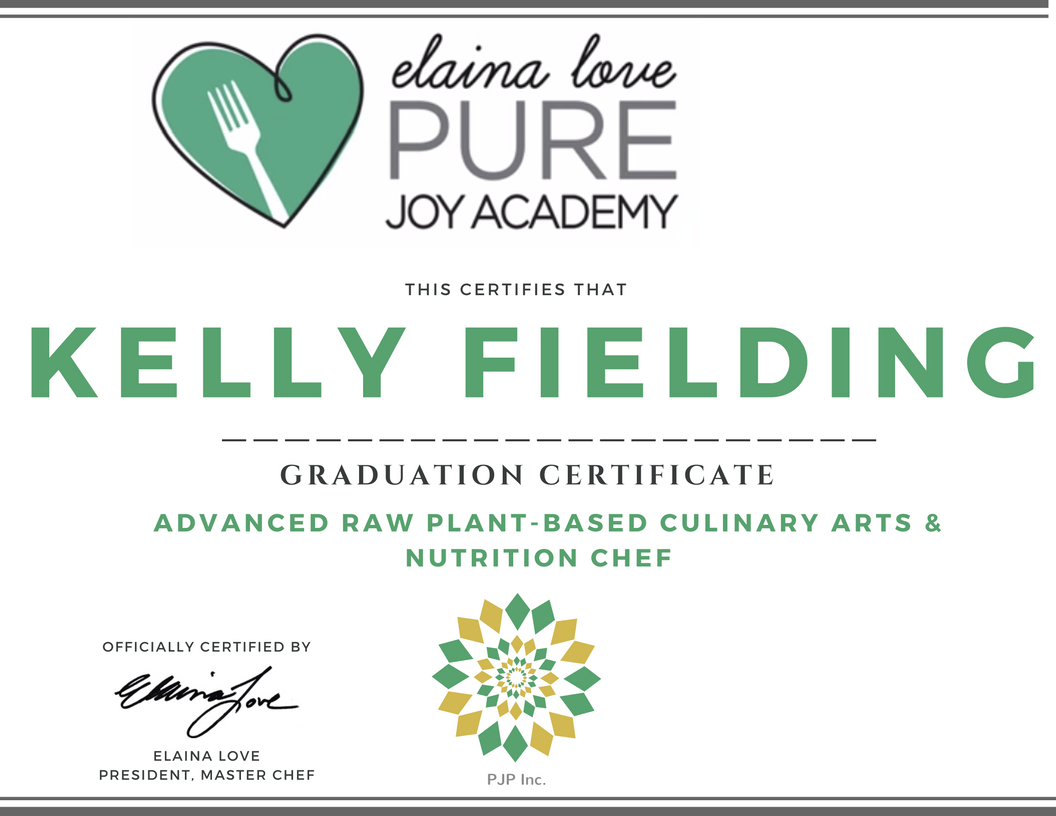 Level 2 Advanced Raw Vegan Chef Certification Online Pure Joy