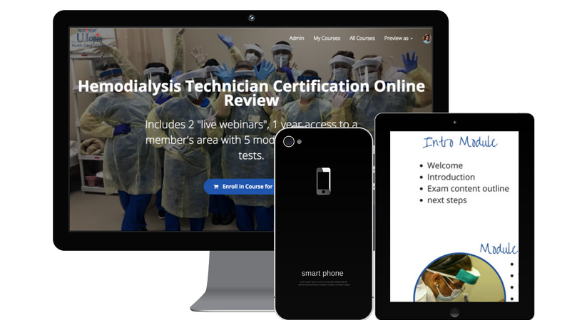 Hemodialysis Technician Certification Online Review | Utopia