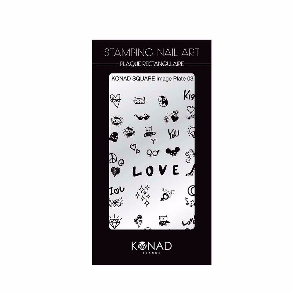 Plaque rectangulaire Stamping nail art