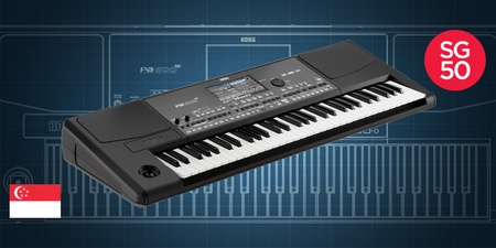 Korg has customized a musical keyboard for Singapore