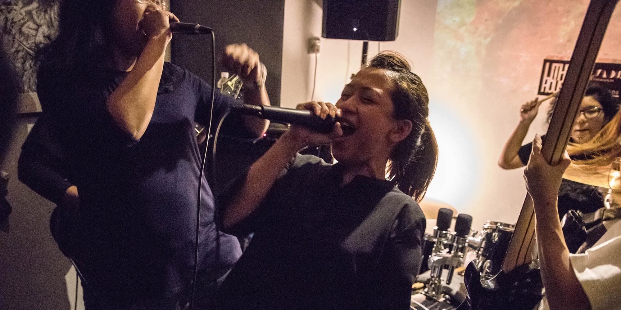 PHOTO GALLERY: Singapore all-female hardcore originators Obstacle Upsurge's EP launch