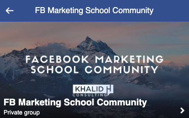 facebook marketing school community group