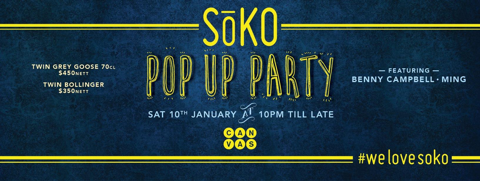 CANVAS presents SōKO: POP UP PARTY!!