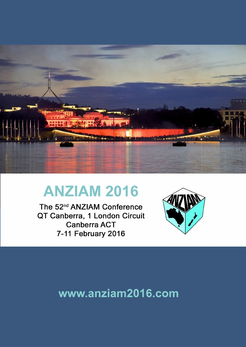 ANZIAM 2016 Conference Handbook on Overleaf