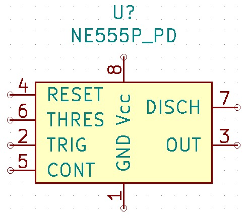 Figure 1: A custom-made symbol for the 555 IC