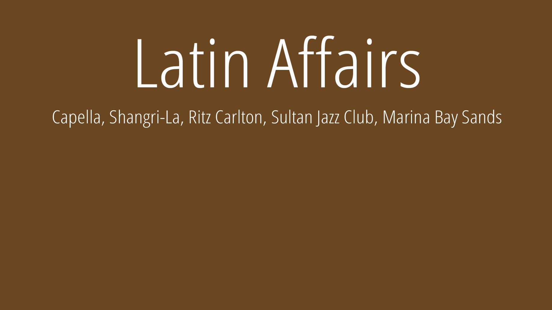 Latin Affairs