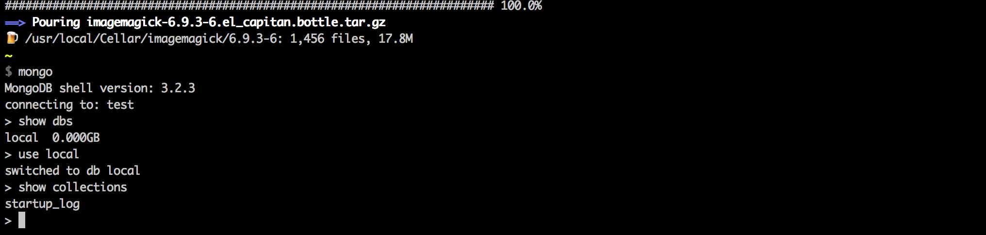 Install Node + NPM + MongoDB on a Mac