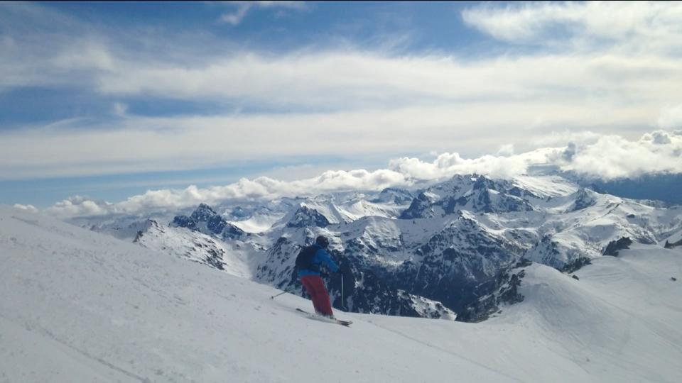 Fred skiing the Andes!