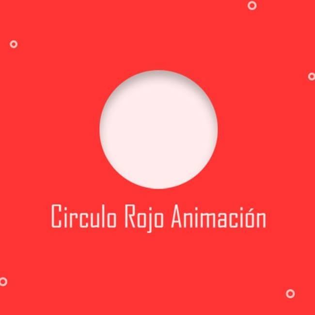 Circulo Rojo Animación