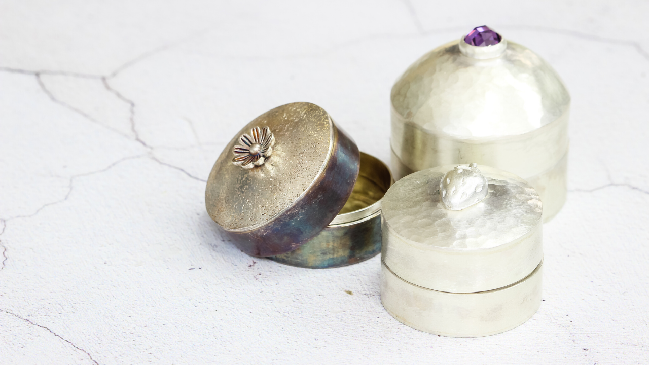 Make a silver trinket box online workshop with Jewellers Academy