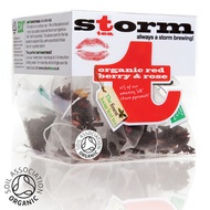 Organic Red Berry and Rose Petal Tea from Storm Tea