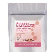 Peach Flavored Iced Green Tea from Den's Tea