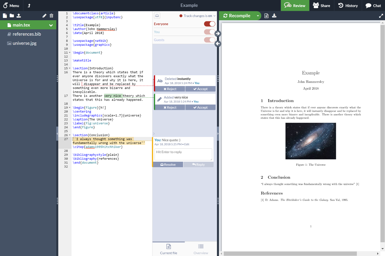 Try out Overleaf v2 - Overleaf, Online LaTeX Editor