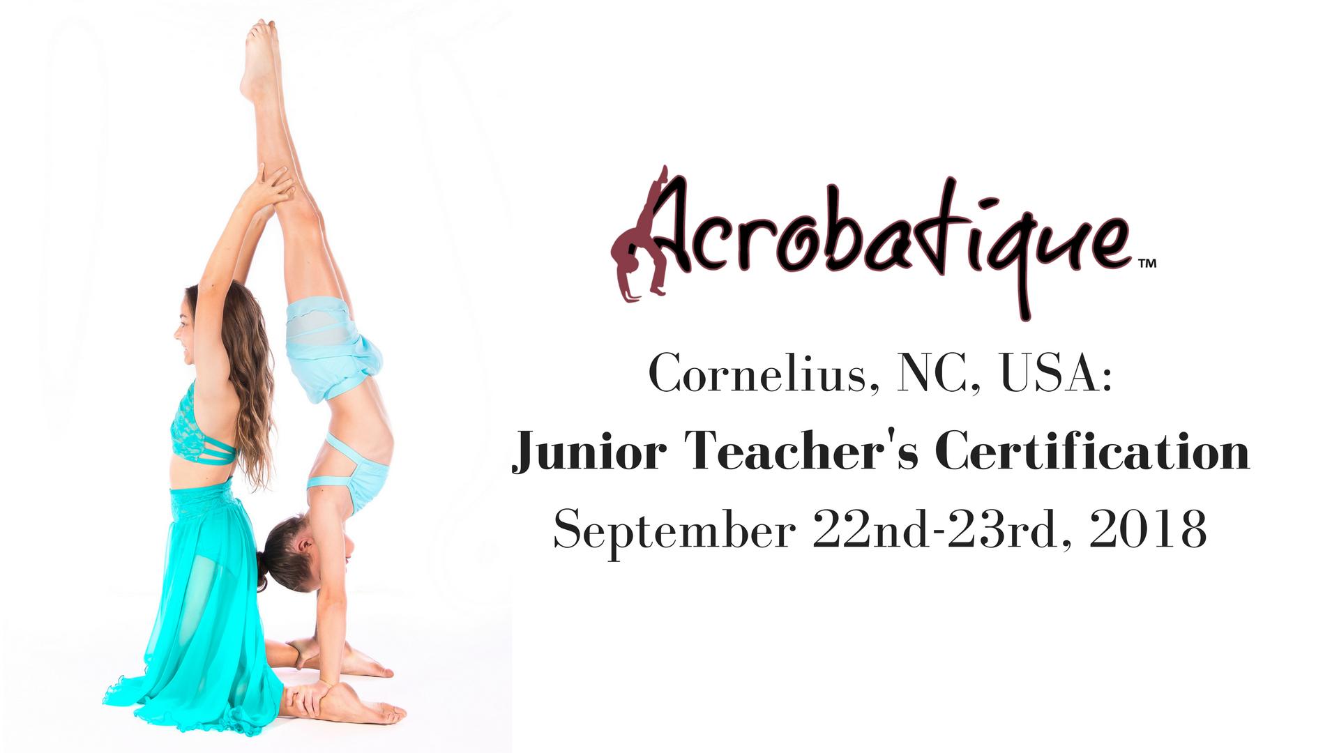 Cornelius Nc Junior Teachers Certification Course Acrobatique
