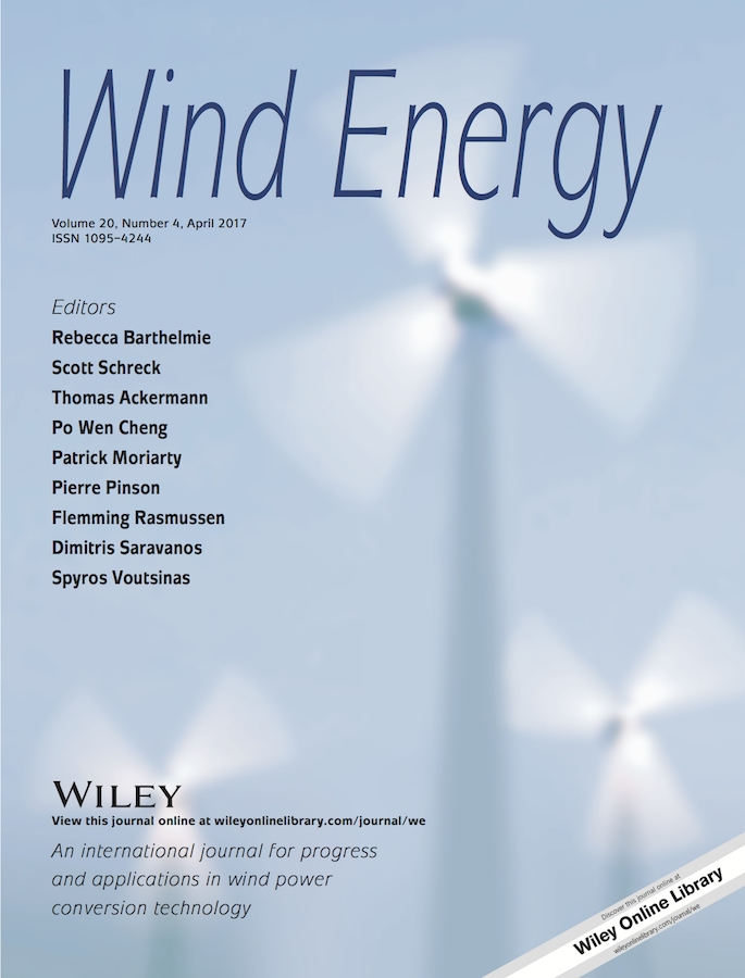 Template for submissions to Wind Energy