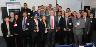 Made in the Midlands award winners with Lord Digby Jones