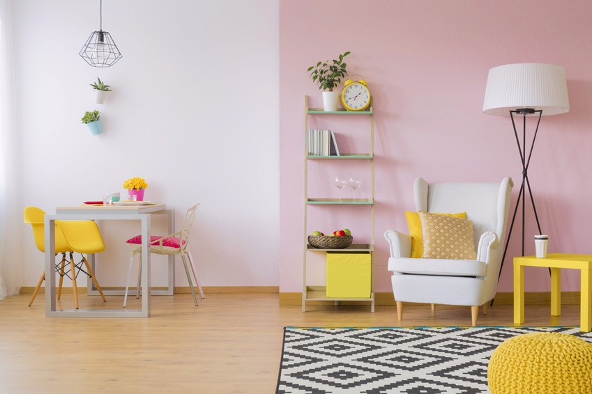 Pink Yellow Room Scheme