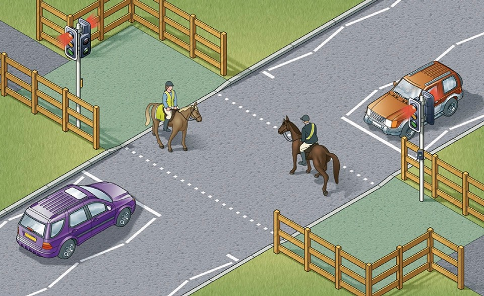 Rule 27- Equestrian crossings are used by horse riders. There is often a parallel crossing
