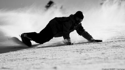 Coach Dave Lays Down A Classic Euro Carve Core Snowboard Camps