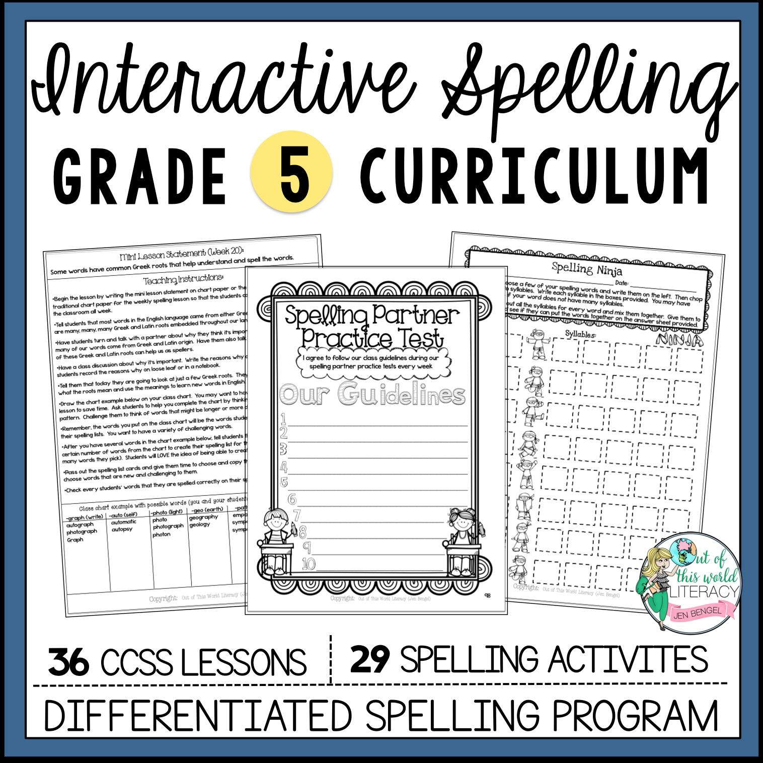 Interactive Spelling: Grade 5 | Jen Bengel