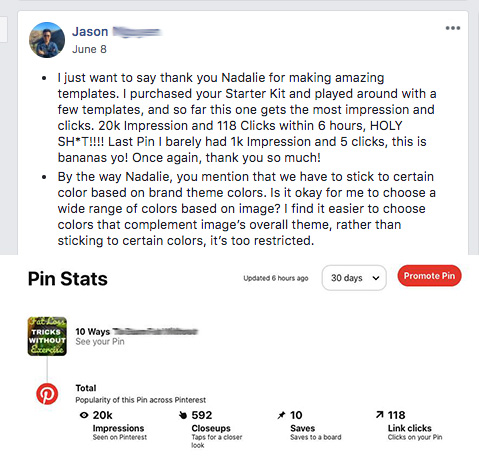 Jason Pin Template Results