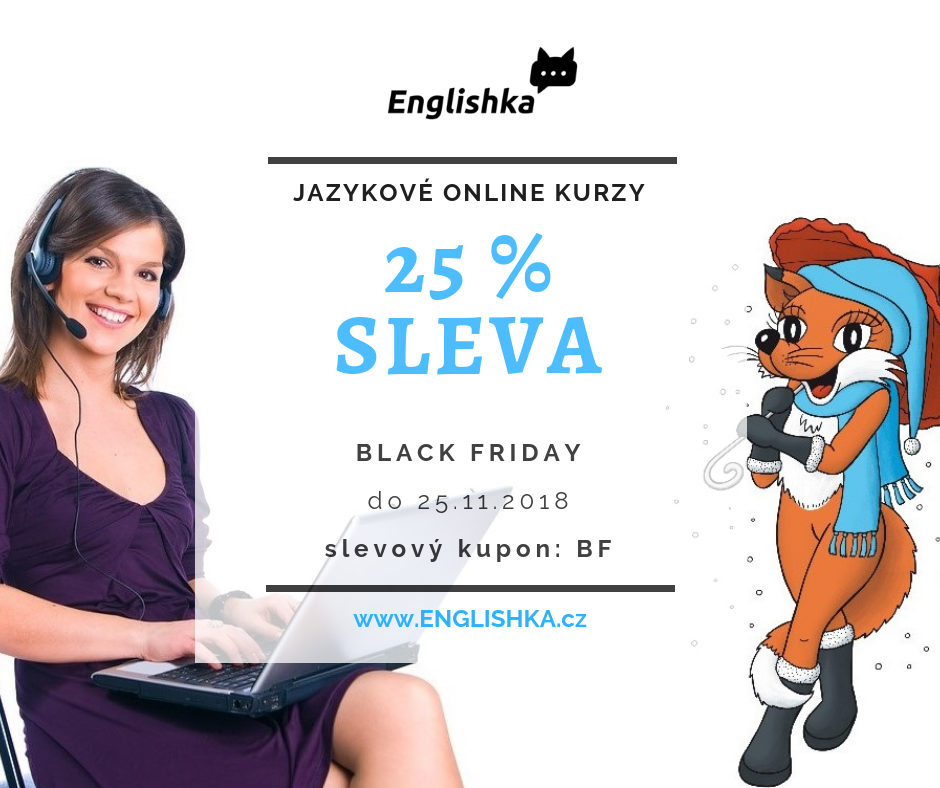 Black Friday na jazykové online kurzy