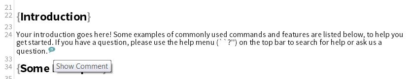Writelatex comment screenshot 3