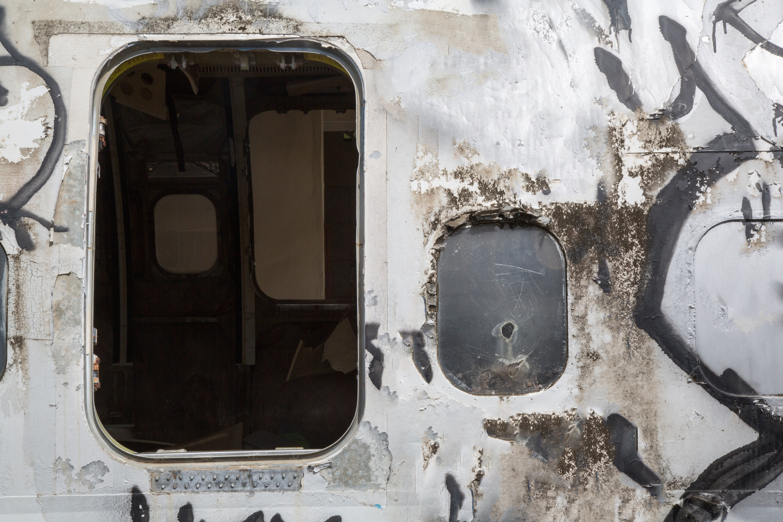 A plane after crash