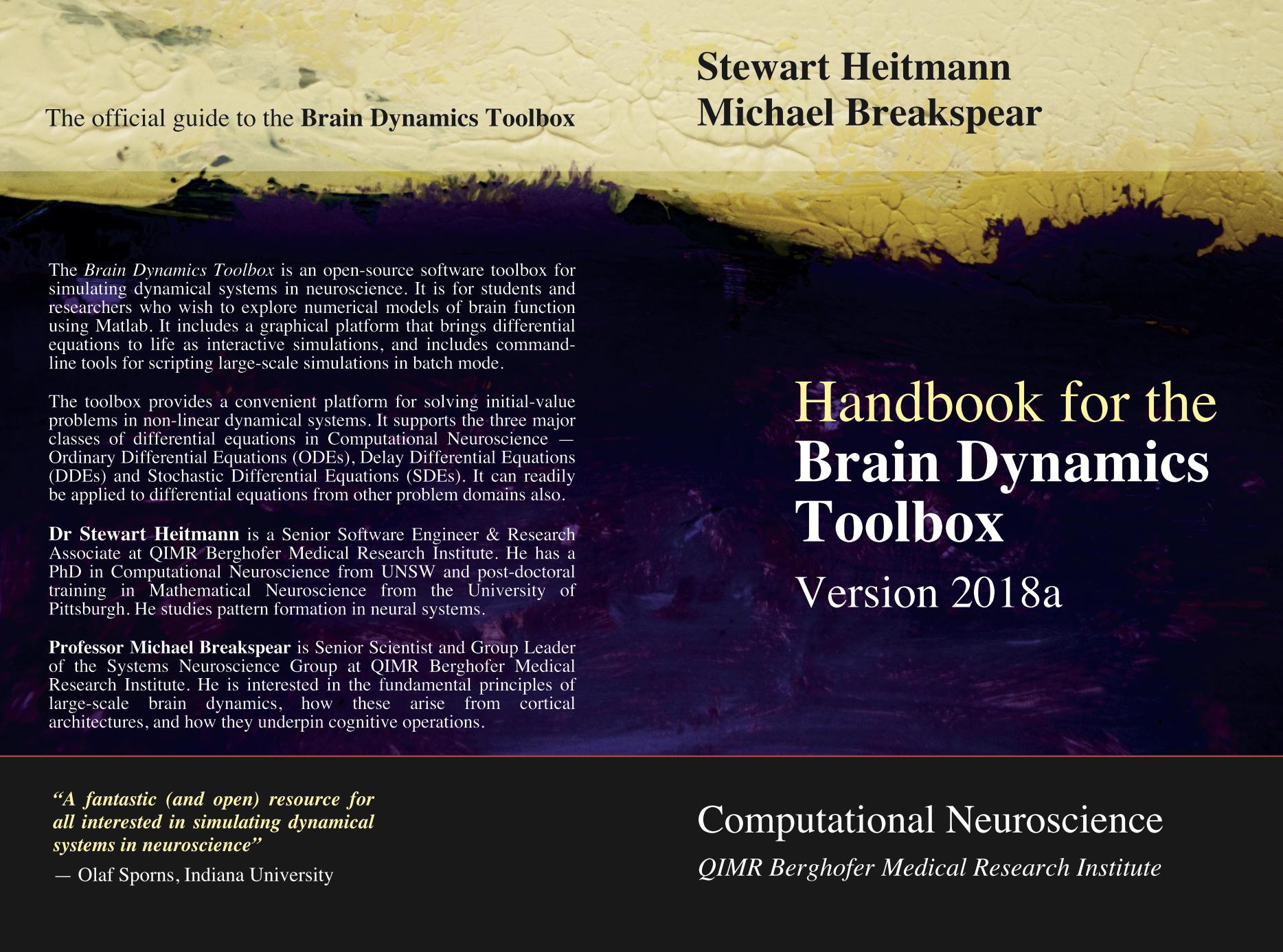 Handbook for the Brain Dynamics Toolbox