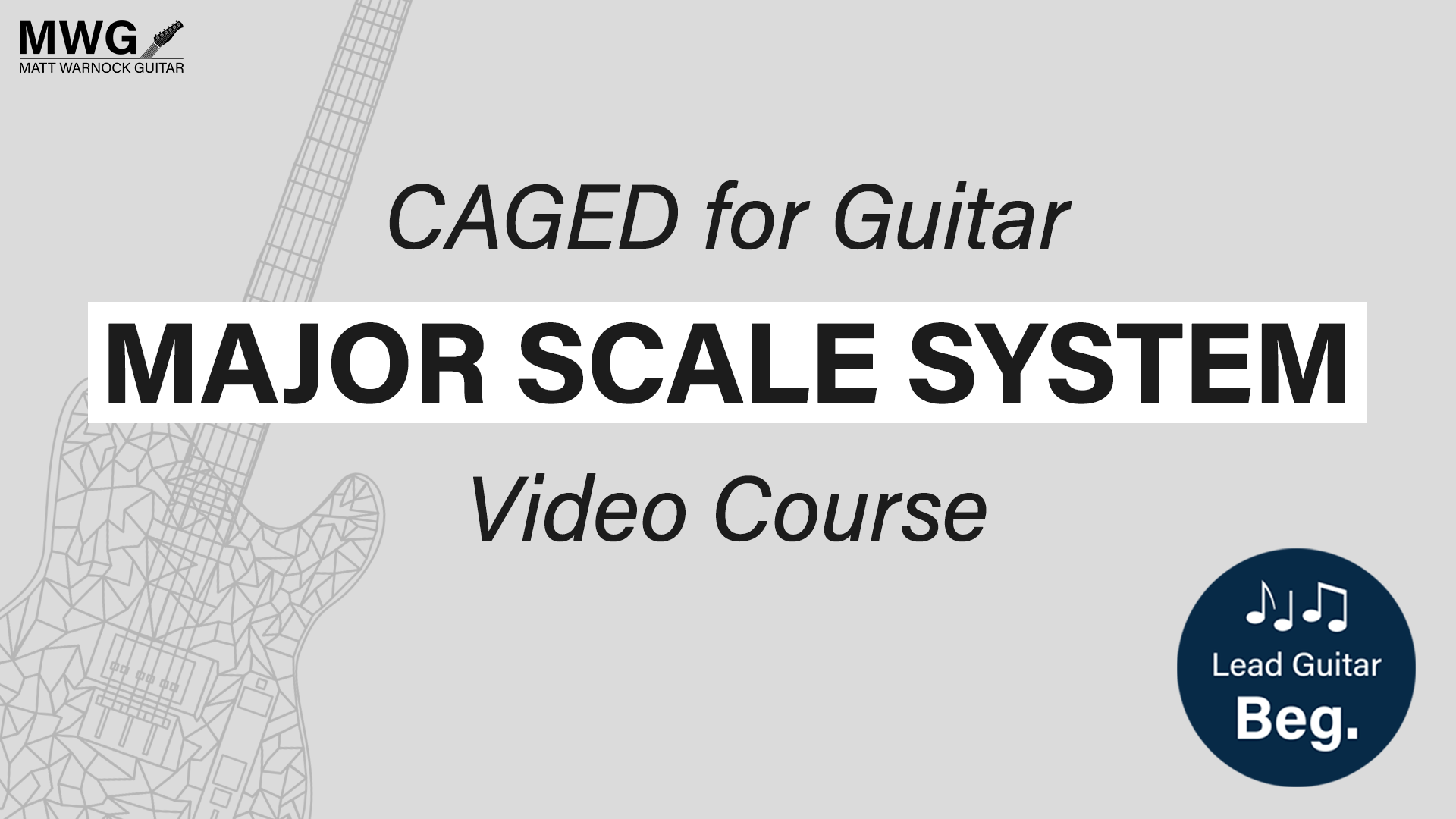 major scale system