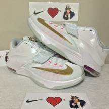 "DS NIKE KD VII PRM SIZE 11.5 STYLE CODE 706858 176 ""AUNT PEARL"" 7"