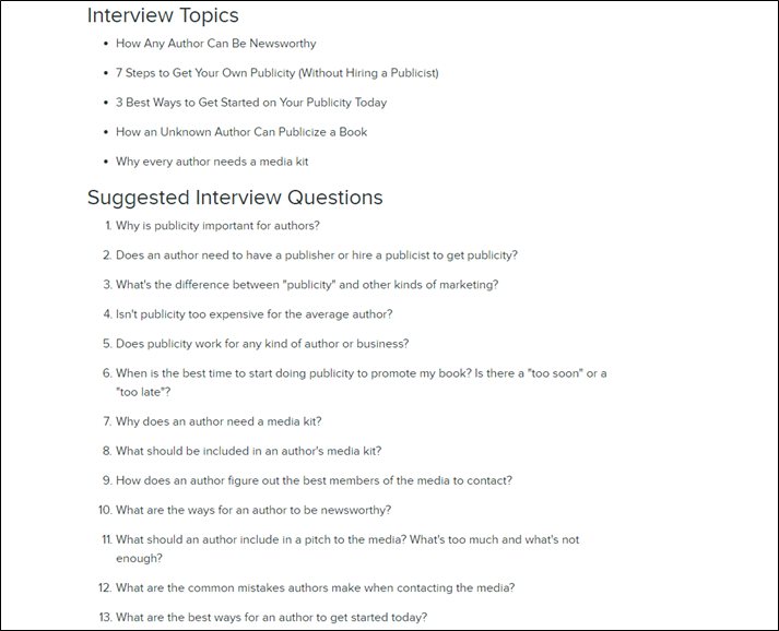 Creating your interview questions ultimate guide to creating an key points malvernweather Image collections