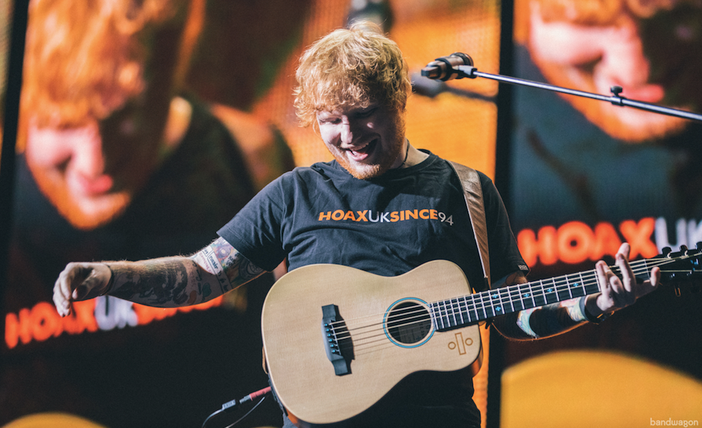 Ed Sheeran world's best-selling artiste