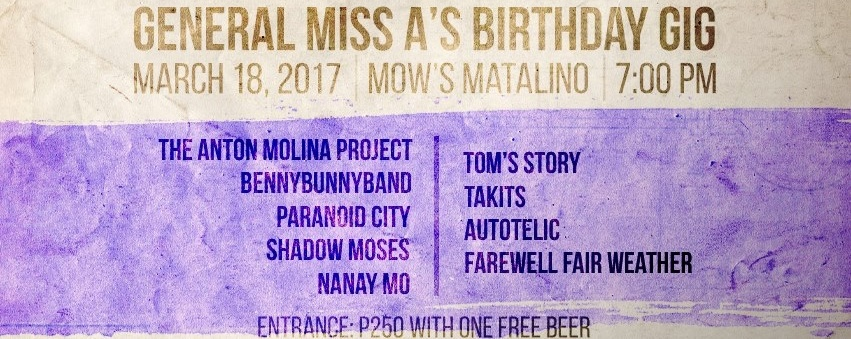 General Miss A's Birthday Gig
